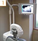 診療室のデジタルモニタ